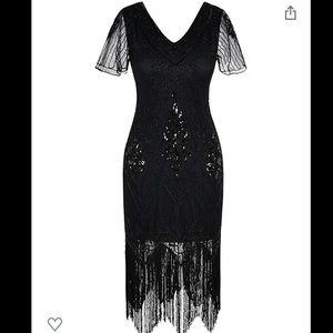Vintage Senay 1920's Gatsby flapper dress